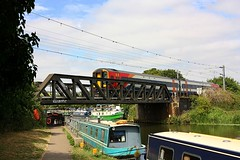 Boats and Trains at Ely (Chris Baines) Tags: east midlands 158 norwich liverpool service crossing great river ouse ely