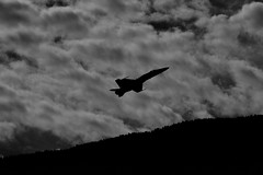 "Against the Clouds (srsatvs) Tags: blackandwhite monochrome noiretblanc ""artinbw"" biancoenero blancoynegro streetphotography aircraft fujifilm xe1 55200mmf3548rlmois telephotolens"