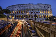 Amphitheatrum Flavium (JWY80) Tags: colosseum roma rome bluehour lighttrails colosseo italia bus cars italy amphitheater night ancient historic june summer d750 longexposure