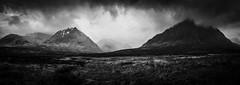 Moody Glen Coe (Joe Hayhurst) Tags: 2018 highlands joehayhurst landscape lumix scotland summer torridon glen coe glencoe panorama mono blackandwhite buachailleetivemor glenetive