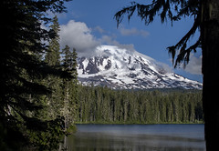 Cloud Collector (TW Olympia) Tags: mt adams lake takhlakh mountain clouds water trees
