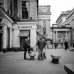 Balance (stephen cosh) Tags: blackandwhite glasgow hasselblad500cm hasselbladplanar80mm kodaktrix400 stephencosh streetphotography