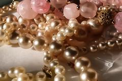 N_AlAbdulMalik_PileofPearls_.jpg_1 (NAAM Classic Jewelry) Tags: losangeles ca usa beads pearls pink gold refined beauty soft textured creamy