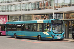 ANW 3096 @ Manchester Piccadilly train station (ianjpoole) Tags: arriva north west vdl sb200 wright pulsar 2 mx61avc 3096 working rail replacement bus service from manchester piccadilly wigan wallgate northern