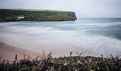 Built by the sea (NikNak Allen) Tags: mawganporth cornwall coast bay beach sand water ocean atlantic cliff cliffs sky view look horizon seascape grass house early morning above longexposure smooth pov wide shore shoreline