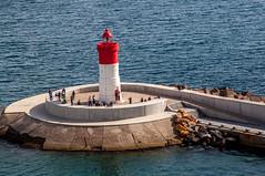 Cartagena Dique de la Navidad (Tony Shertila) Tags: esp peñarroya spain cartagena geo:lat=3758692852 geo:lon=098366261 geotagged murcia europe harbour breakwater lighthouse people sea