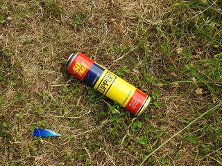 Gas Lighter Refill Can, Monmouthshire-Brecon Canal, Retail Park, Cwmbran 30 June 2018