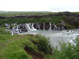 Islandia Cascada de Hraunfossar rio Hvita 04