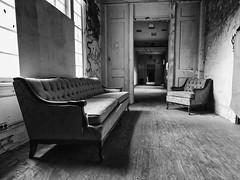 Waiting Room (repete7) Tags: radford stalbanssanatorium hospital asylum mentalhospital abandonded decay canon canon1635f4l canon6dmkii canon6dmarkii furniture derelict grafiti