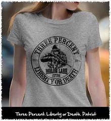Three Percent. Liberty or Death. 1776. Black Print. Women's: Gildan Ladies' 100% Cotton T-Shirt. Sport Grey.  | Loyal Nine Apparel (LoyalNineApparel) Tags: 2a 2ndamendment colddeadhands comeandtake concealedcarry cute donttreadonme dtom fashion fashionista girlswithguns girly gungirl guns instafashion livefreeordie loyalnineapparel loyalnineclothes molonlabe nra patrioticwomen progun secondamendment tee teeshirt threeper threepercent tshirt womenstee