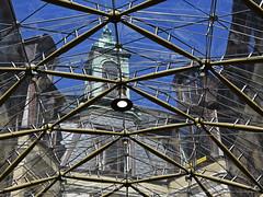 Jorcks Passage Roof (RobertLx) Tags: denmark copenhagen city roof rooftop glass steel reflection transparency street passage jorckspassage nordic europe architecture grid sky building geometric line