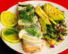 Monday dinner. Baked salmon and fennel with onion and dill salad. (garydlum) Tags: limezest belconnen parsley avocado salmon redonion springonion dill vinegar fennel canberra limejuice lime parkes australiancapitalterritory australia au