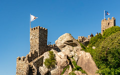 Part of the Moors Castle, Sintra, Portugal (sharon.verkuilen) Tags: portugal sintra moorscastle castle fortress