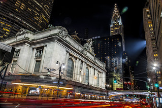 Grand Central Terminal and The Chrysler Bldg. on 42nd St. -3529-18-
