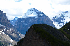 Welcome to Canada (iComessy) Tags: mountains mountain hike lake louise banff rockies canada alberta sky trees nature beautiful earth beauty distance rock clouds landscape valley peak