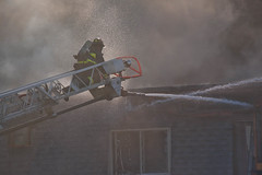 Massive Condominium Complex Fire Prospect Heights Illinois 7-18-18  2592 (www.cemillerphotography.com) Tags: blaze disaster conflagration inferno homes destroyed emergency firstresponders firemen police cops paramedics redcross holocaust bonfire matches hose fireengines hookandladder burned flames heat smoke incinerated