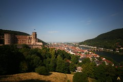 IMG_8942 (AndyMc87) Tags: heidelberg mountain hill castle ruin sky blue clear clouds city neckar river fluss bridge trees gras longtimeexposure traveling flag badenwüttenberg colourful architecture travel holiday tourism tour forest panorama tal schloss nd1000 langzeitbelichtung canon eos 6d 1740 l