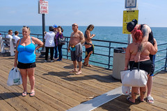 Untitled (kenwalton) Tags: america amusementpark amusementparks architecture attire bald baseballcap baseballcaps bathingsuit beach beaches california chubby clothes clothing corpulent entertainment fat footwear hairstyle hat hats headgear inked large northamerica obese ocean outfit overweight pacific pacificocean photography pier piers sandals santamonica sea shoe shoes size street streetphoto streetphotography swimsuit tattoo tattooed tattoos usa unitedstates unitedstatesofamerica urban weight day daytime sign streetphotographer