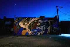 Detroit Mural (paulh192) Tags: detroit michigan mural art graffiti dusk lowlight zeiss sony street streetlight urban blue