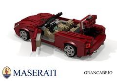 Maserati GranCabrio (2018) (lego911) Tags: maserati grancabrio cabriolet convertible 2018 2010s v8 ferrari italy italian auto car moc model miniland lego lego911 ldd render cad povray sportscar supercar luxury pininfarina