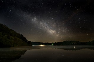 Milky Way capture at Logan Lake, Ohio.    I found myself driving in the dead of night to take advantage of the clear conditions.
