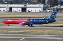 "Alaska 737-900ER N493AS ""More to Love"" (bswang) Tags: asa b739 n493as sjc"