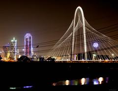 Margaret Hunt Hill Bridge (Modymark) Tags: dallas texas reflection cityscape