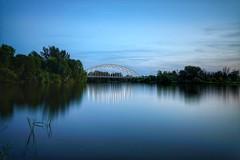 Rideau River Night Shot (AncasterZ) Tags: nightshot vimymemorial bridge