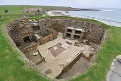 House Interior (PLawston) Tags: uk britain scotland orkney mainland skara brae neolithic village house interior fireplace