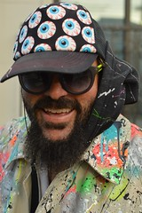 Brett (radargeek) Tags: sanfransisco ca california portrait artist lioti505 castro eyeball hat paint painting brettvanhorn