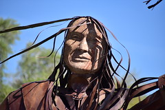 bronze portrait (Matthew P.L. Stevens) Tags: bronze statue wavy hair arizona scotsdale