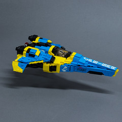 FEISAR redesign (original design by Shaun Mooney) (Velocites) Tags: feisar wipeout sony playstation racing lego moc afol videogames