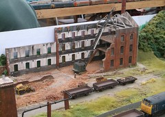 Warehouse demolition (Phil_Parker) Tags: modelrailway train