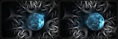 Strange New World 2 (tombentz33) Tags: stereo 3d crossview fractal jwildfire abstract cg space planet