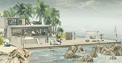 Ammos Homes (MoonsoulResident) Tags: home house beach island tropical palmtrees ammoshomes privateisland beachfront property decor decoration landscape sim rental