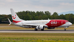 Boeing 737-8K5(WL) OO-JPT TUI Airlines Belgium - RIU Hotels & Resorts Livery (William Musculus) Tags: aircraft spotting airport basel mulhouse freiburg bsl mlh eap lfsb euroairport boeing 7378k5wl oojpt tui airlines belgium riu hotels resorts livery 737800 special scheme