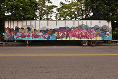 YES2 DMOTE (TheGraffitiHunters) Tags: graffiti graff spray paint street art colorful ny nyc new york city yes yes2 dmote truck trailer
