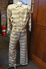 Springfield Calaboose Jail (Adventurer Dustin Holmes) Tags: 2018 springfield springfieldmo springfieldmissouri calaboose jail lawenforcement ozarks midwest museum old historic historical jailuniform prisoneruniform convictuniform clothing outfit stripes inmate prisoner prison fireextinguisher spd springfieldpolicedept springfieldpolicedepartment history police greenecounty interior inside