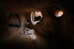 Hilevar home (freakingrabbit) Tags: hilevar village iran persia old cave tuff light dark inside