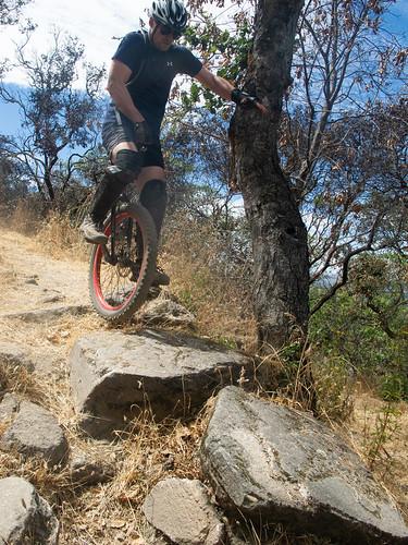 Colin on Biker Bypass, Manzanita Trail