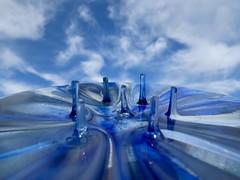 Sky Connections (Robert Cowlishaw (Mertonian)) Tags: merton glass sky blue clouds abstract robertcowlishaw canon powershot g1x mark iii canonpowershotg1xmarkiii blueandwhite bypl backyardphotolab uplooking