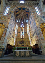 Heavenly Realms (Rev.Gregory) Tags: holy cross holycross roman catholic church basilica florence italy sanctuary altar crucifix apse stairs steps reredos