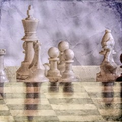 The Spoils of War (clarkcg photography) Tags: chess board pieces pawn bishop knight king rook alter crumblepaper texture change sliderssunday