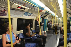 Aboard the Jubilee Line (afagen) Tags: london england uk unitedkingdom greatbritain londonunderground underground tube thetube subway transit train jubileeline