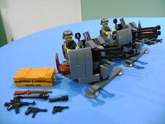 Custom LEGO WW2 German 2 CM FLAKVIERLING 38 duo (TekBrick) Tags: lego custom ww german flakvierling 38 canon moc dark grey bricks parts pieces war