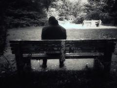 Doubts (LUMEN SCRIPT) Tags: feelings loneliness streetphotography street people bench blackandwhite monochrome conceptphotos conceptualphotography