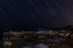 Areamilla. Cangas (kiko_-46-) Tags: paisajesnocturnos playas noche paisajes efectos startrail largaexposicion cangas pontevedra españa