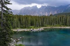 Lago di Carezza (HSlights) Tags: pozza di fassa latemar lago carezza val montagna monti montain panorama paesaggio landscape dolomiti verde fuji hx1