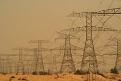 desert energy (e-laboratorio) Tags: uae emirates dubai desert sand traliccio trellis energy
