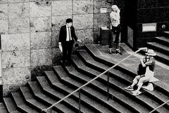 2018-06-20_02-14-50 (jumppoint5) Tags: blackandwhite urban smokers city urbanjungle contrast japan kyoto together